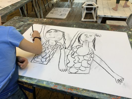 st-ives-school-of-painting-kids-sunday-club -figure-drawing