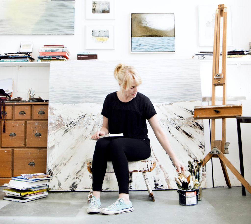 Kerry in her studio