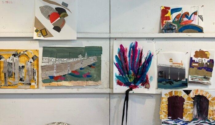 camilla dixon abstract relief leonard fuller studio students work