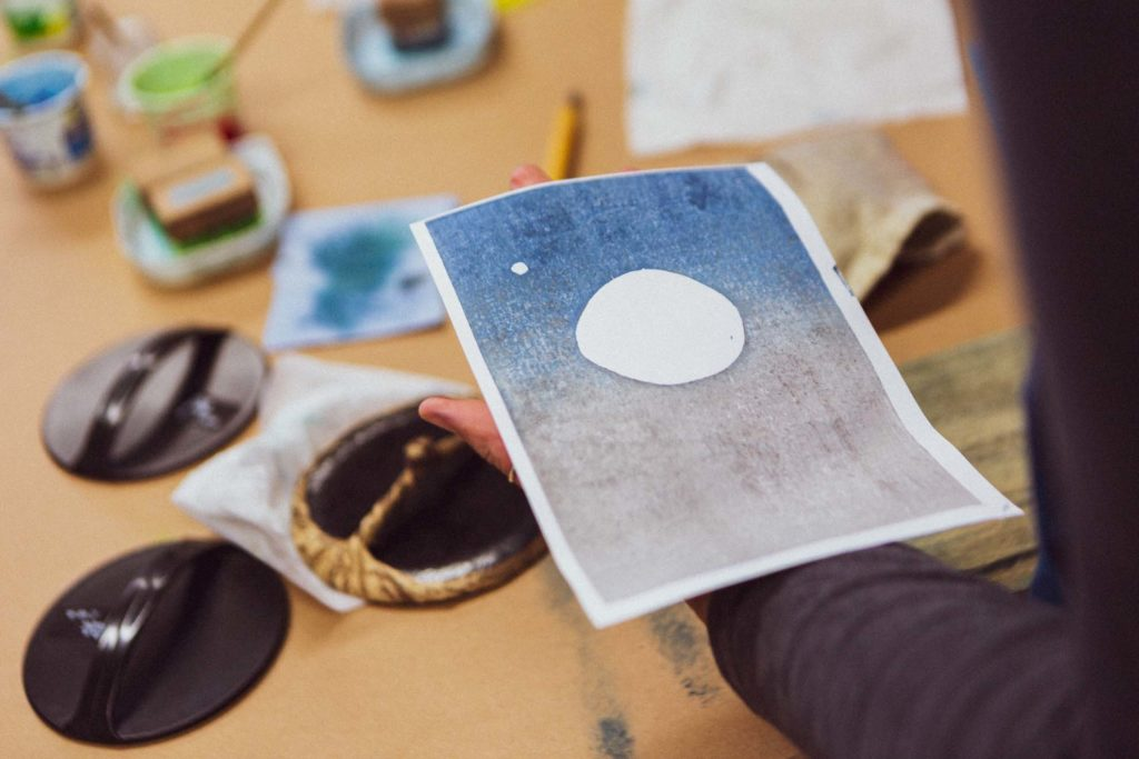japanese wood block printing course with artist Adrian Holmes