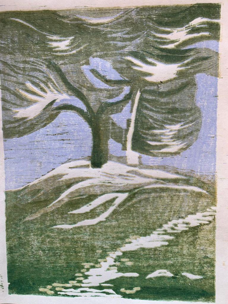 Jaoanese Woodblock trees