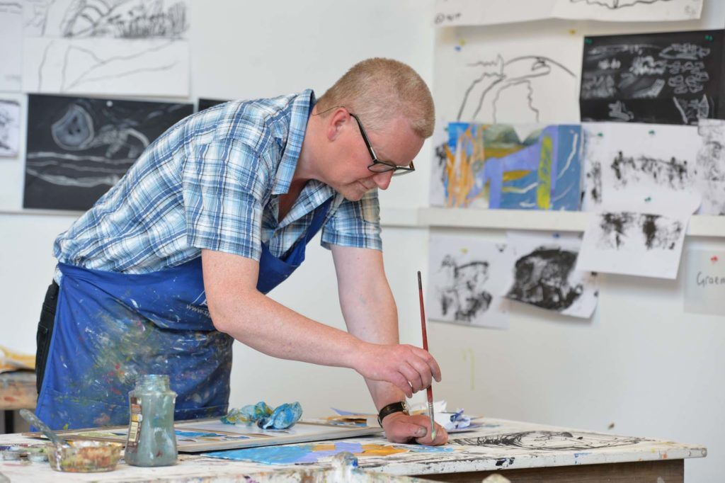 landscape course inspired by st ives artist Peter Lanyon in artist studios overlooking sea