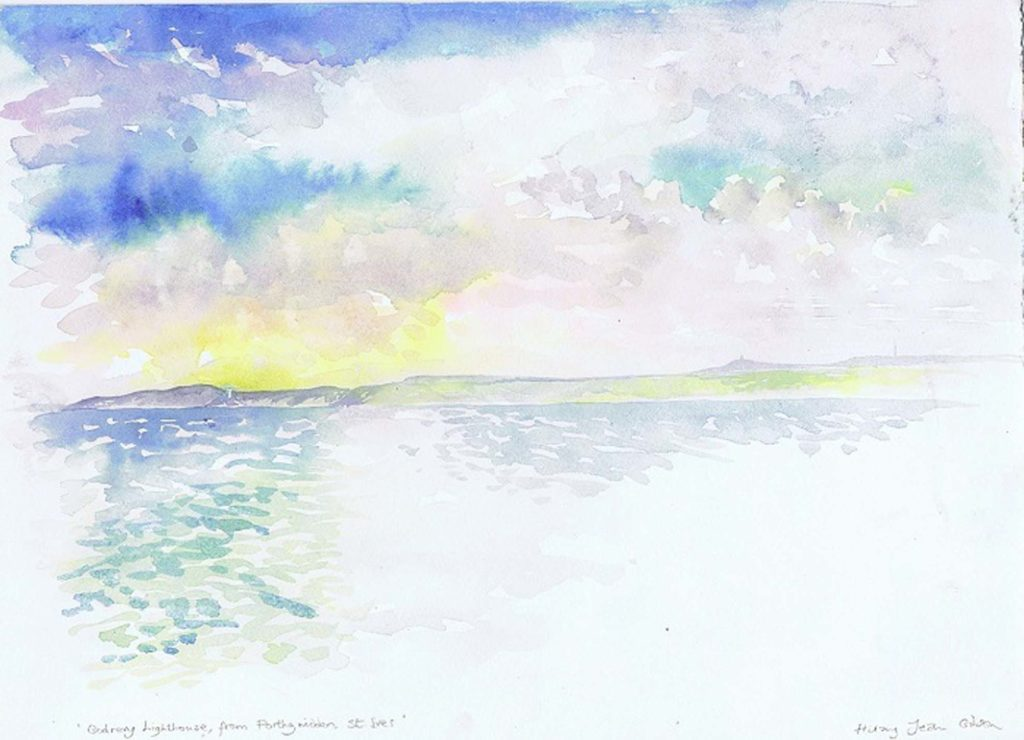 watercolour painting by Hilary Jean Gibson for landscape art course