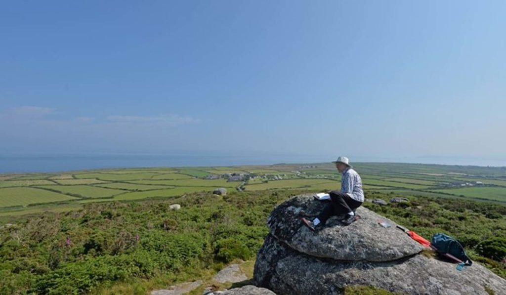 art course en plain air on Cornwall coast path with artist Greg Humphries