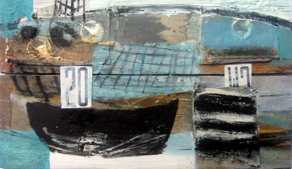 st ives harbour and town mixed media art course