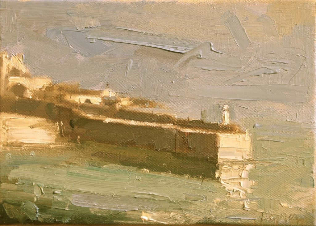 landscape oil painting by gary long art course